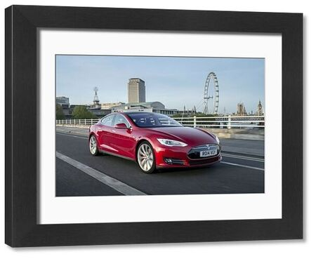 Tesla Models (electric 4-door sports) 2014 Red