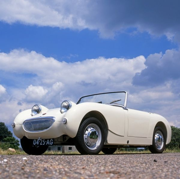 car, Austin-Healey, Sprite, Mk, 1, British, English, England, Britain, UK, United, Kingdom, UK, United, Kingdom, Great, GB, white, 1959, 1950s, 50s, fifties