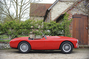 AC Ace Bristol Roadster, 1957, Red