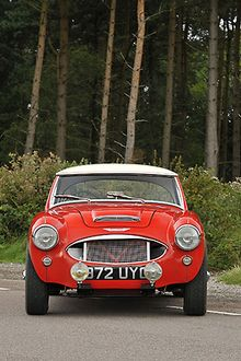 Austin Healey 3000, 1960, Red, white roof
