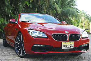 BMW 650i Convertible, 2016, Red