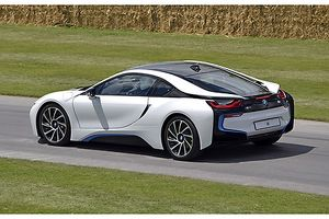 BMW i8 (Hybrid Supercar), 2014, White, & blue