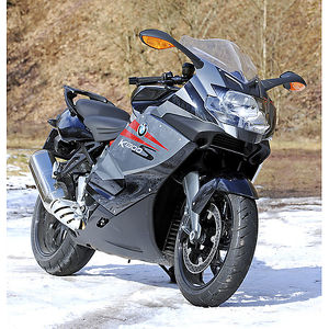 BMW K1300S, 2010, Silver, black & red