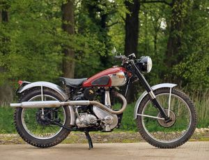 BSA Model B34 500cc Trials 1951 Red & silver