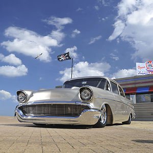 Chevrolet Bel Air (Custom), 1957, Silver