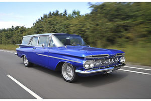 Chevrolet Brookwood Estate (modified) 1959 Blue & silver