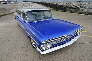 Chevrolet Brookwood Estate (modified), 1959, Blue, & silver