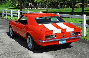 Chevrolet Camaro SS, 1968, Red, white stripes