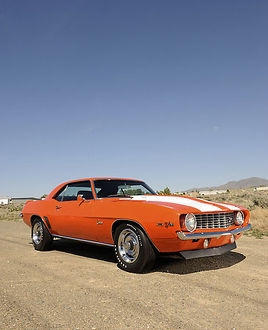 Chevrolet Camaro Z-28 1969 orange white stripes