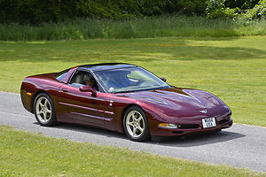 Chevrolet Corvette, 2000, Red, dark
