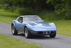 Chevrolet Corvette Stingray, 1975, Blue, light