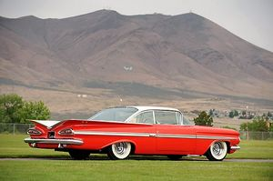 Chevrolet Impala Bubbletop (customised), 1959, Red, & white