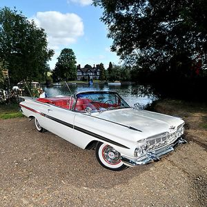 Chevrolet Impala convertible, 1959, White