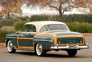 Chrysler Town & Country Newport Coupe (Woodie), 1950, Green, white roof