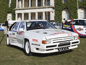 Citroen BX 4TC Group B rally car