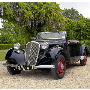 Citroen Traction Avant Cabriolet, 1939, Black