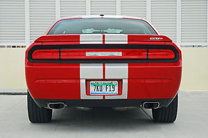 Dodge Challenger SRT8 2013 Red silver stripes