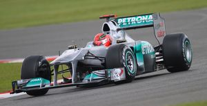 F1 British Grand Prix, Silverstone 2011 Michael Schumacher Mercedes GP Petronas