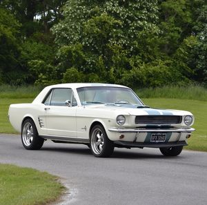 Ford Mustang 1966 White blue stripes