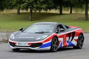 McLaren MP4-12C, 2013, Black, with red & white