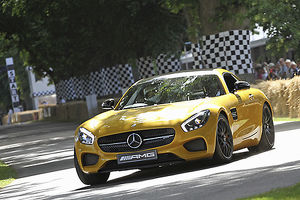 Mercedes Benz AMG GT-S, 2015, Yellow, metallic