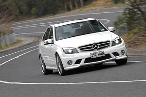 Mercedes Benz C63 AMG 2009 white