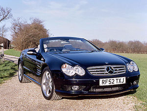 Mercedes-Benz SL 55 AMG, 2002, Blue, v.dark