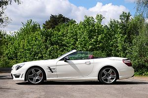 Mercedes-Benz SL63 AMG (V8 Biturbo), 2014, White