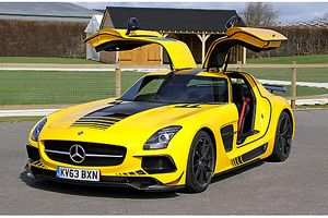 Mercedes-Benz SLS AMG Black Series, 2013, Yellow, black stripes