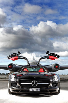 Mercedes-Benz SLS AMG Gullwing, 2011, Black