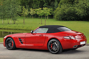 Mercedes-Benz SLS AMG Roadsdter, 2011, Red, metallic