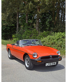 MG MGB Roadster, 1980, Orange
