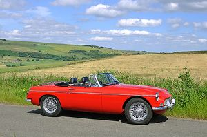 MG MGC Roadster, 1968, Red