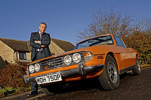 Owner with Triumph Stag
