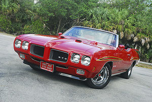 Pontiac GTO Convertible, 1970, Red