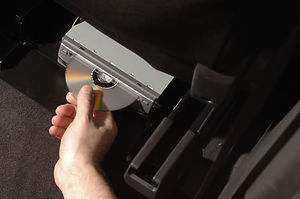 Putting DVD in player Toyota