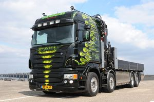 Scania X5 Flat bed truck