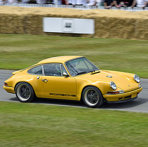 Singer 911 Coupe (based on 1991 Porsche 911), 2015, Yellow