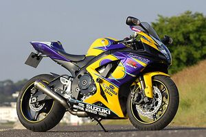 Suzuki GSX-R750 Corona, 2006, Yellow/purple, (Corona)