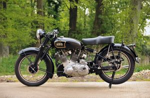 Vincent Rapide HRD Series C black 1949 1940s 40s