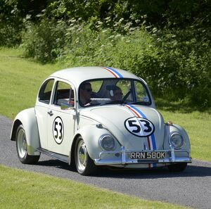 VW Volkswagen Classic Beetle (Herbie) 1971 Beige with race decals